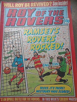Roy of the Rovers 16th January 1982 Combined Postage Offered For Multiple Buys