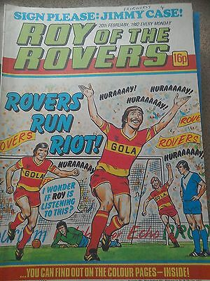 Roy of the Rovers 20th February 1982 Combined Postage Offered For Multiple Buys