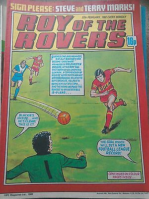 Roy of the Rovers 27th February 1982 Combined Postage Offered For Multiple Buys