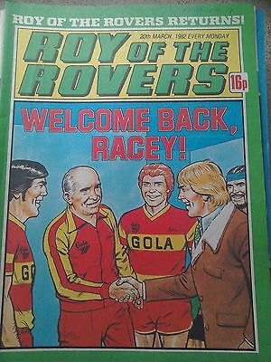 Roy of the Rovers 20th March 1982 Combined Postage Offered For Multiple Buys