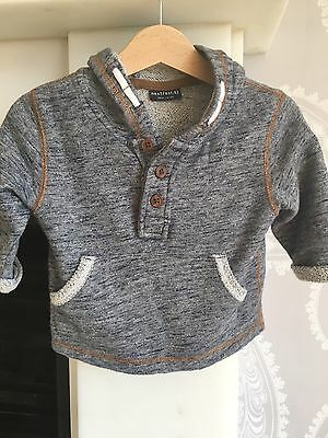 Baby Boys Hooded Top from Next, age 3-6 Months
