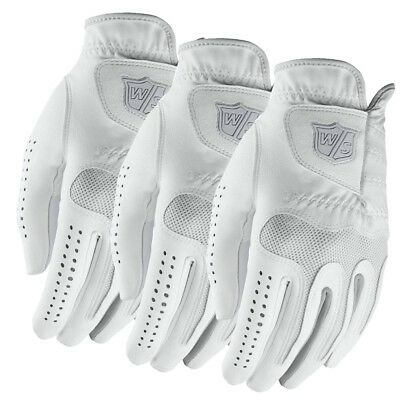3 NEW Lady Wilson Staff Grip Soft Golf Gloves Left Hand - You Pick the Size!!