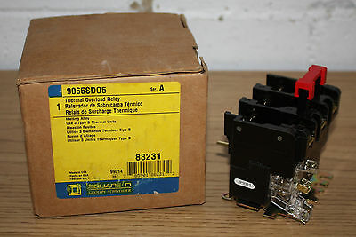 NEW - Square D Thermal Overload Relay 9065SDO5, Series A, #88231