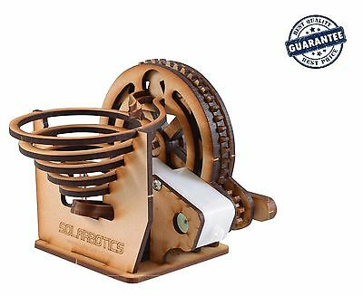 Perpetual Motion Machine Desk Toy Marble Machine Kit Diy Wooden Battery Powered
