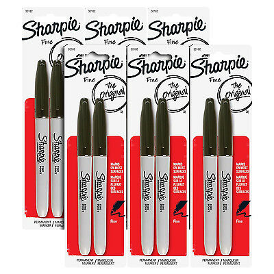 Sharpie Permanent Markers, Fine Point, Black Ink, Pack of 12 (30162)