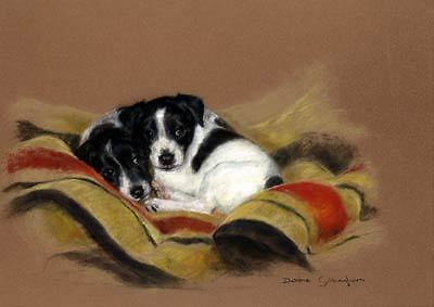 Jack Russell Limited Edition Print Humble Beginnings by Debbie Gillingham