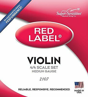 Reliable Red Label Full Core Steelcore 4/4 Violin Strings w/ Nickel Winding