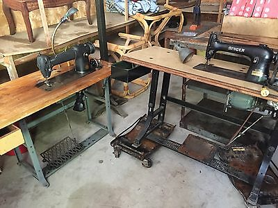 2 SINGER industrial sewing machines 241-12 and 98-40