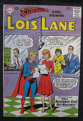 SUPERMAN'S Girl Friend, LOIS LANE #45 1963 DC Comics VF 8.0 Silver Age
