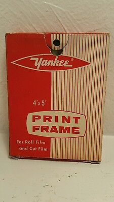 "YANKEE 4 x 5"" PRINT FRAME for ROLL & CUT Film PRINTS PHOTOGRAPHY Original Box"
