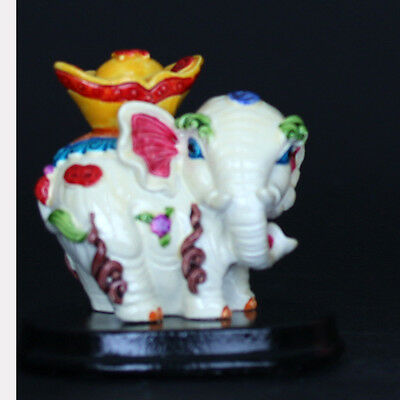 Chinese Cloisonne Porcelain Handwork elephant Statue