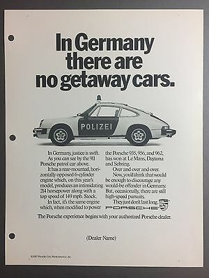 1987 / 1988 Porsche 911 Coupe Advertising Slick (Ad Slick) Print, Poster RARE!!