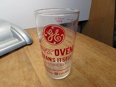 Vintage General Electric Advertising Measuring Glass 8Oz Size