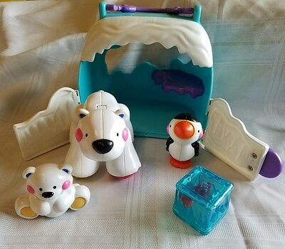 Fisher Price Amazing Animals Polar Bear Friends Tote Case Complete