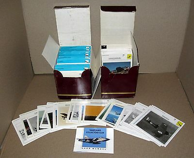 WARPLANES COLLECTORS' CLUB Photo & Infomation Cards (2 Box Set w/100's of Cards)