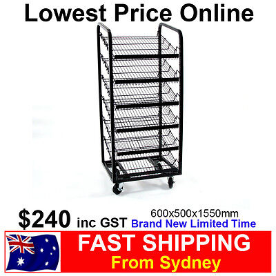 6 Level Angled Bread Stand Rack Shelves for Bakery Store Patisseries Brand NEW!