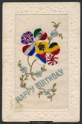 WWI Embroidered Silk.