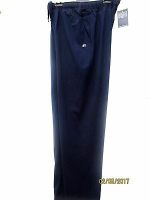 Russell Heavy Weight Track Suit Pant  Side And Hip Pockets Navy  Size Meduim