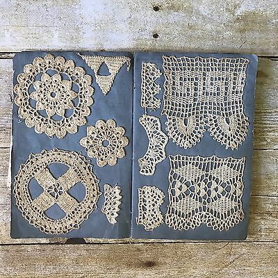 Antique Book of Vintage Handmade Crochet Lace Samples 69 Types Vintage Crocheted