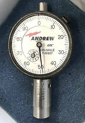 Andrew / Federal 7/16 7-16 716 DIN Male Coax Pin Depth Dial Gauge