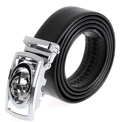 US Hot Automatic Buckle Genuine Leather Belt Business Fashion Double G For Men