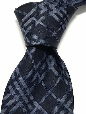 Men's Burberry of London Silk Blue Plaid Neck Tie Made in Italy