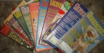 Vtg 1980s 1983 Lot of 10 Workbasket Magazines Crochet Knit Patterns Doily Afghan