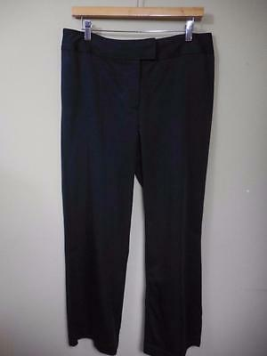 CHICO'S black cotton/nylon stretch zip PANTS  2 = 12 - 14 short