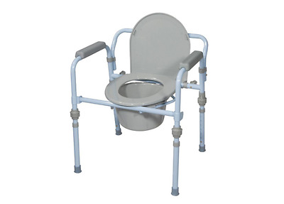Drive Folding Bedside Commode with Bucket and Splash Guard Patent Pending New