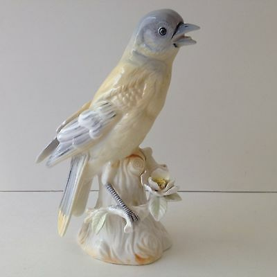 "Vintage Bird Figurine Oriole Ucago Japan Porcelain Hand Painted Large 6"" Gift"