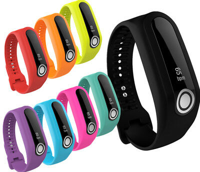 Silicone Rubber Watch Band Strap Wristband Bracelet For TomTom Touch Tracker