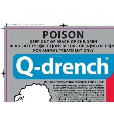 Jurox Q - Drench Best all round Drench for Worming Sheep and Goats 100ml Bottle