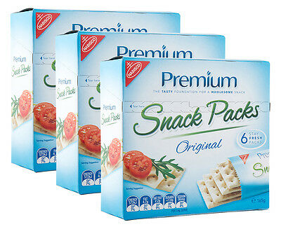 3 x Nabisco Premium Snack Packs Original 6pk 165g