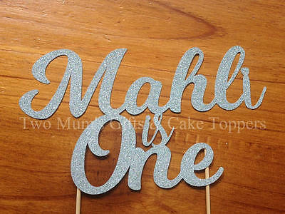 Personalised Custom Birthday Cake Topper - Name is Age Cake Smash Topper 300GSM