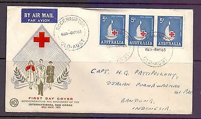 Australia  1963  FDC, Cent. Red Cross (3).