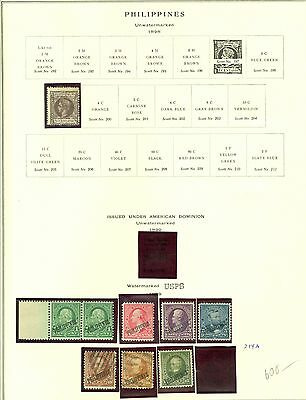 Philippines Collection on Scott Pages 1890  to 1946 Mint and Used Cat $1,617