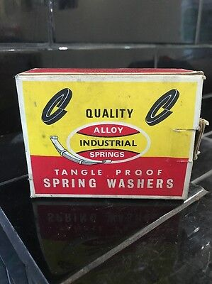 Quality Alloy Industrial Spring Washers  Vintage Box FULL