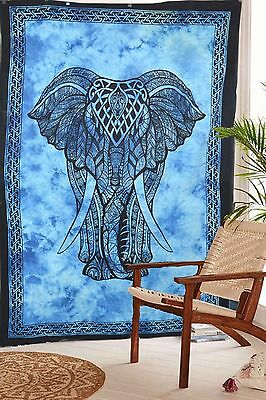 Indian Elephant Tapestry Wall Hanging Mandala Throw Hippie Twin Bedspread Decor