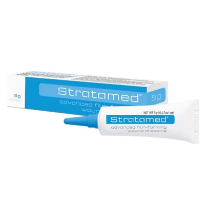 Stratamed Advanced Film-Forming Wound Dressing Gel 5g Prevent Scaring Scars Red