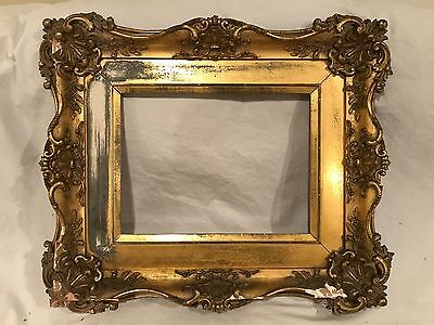 Antique 19th Cent. Rococo Baroque Newcomb Macklin Style Gold Gilt Picture Frame
