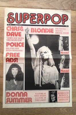 BLONDIE Superpop 1979 FRAMEABLE Newspaper cover ONLY! 16x12 inches