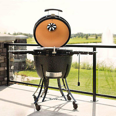 "Pit Boss 24"" Kamado Grill Ceramic Smoker and Oven Charcoal BBQ GRILL+ COVER"