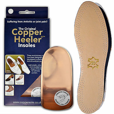 The Original Copper Heelers Arthritis Insoles | Free Leather Insoles - All Sizes