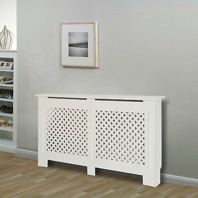 Modern Radiator Cover White Traditional MDF Cabinet Grill Furniture 4 Sizes