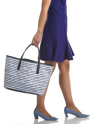 Scout Bags Club Upper Shoulder Tote Travel Weekend Bag Purse Blue & White Stripe