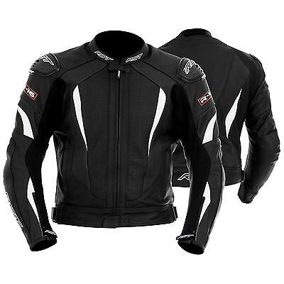 Rst1068 R-16 Jacket Leather Motorcycle Scooter White/black 44 Discounted Price!