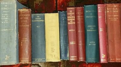 Job Lot 10 Vintage Hardbook Decorative Medical Books