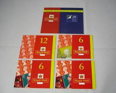 Royal Mail Stamp Booklets 50 x 1st Class Postage Stamps (self adhesive)