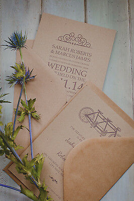 C5 /A5 100gsm QUALITY BROWN RIBBED ENVELOPES RECYCLED CARDS PAPER WEDDING CRAFTS