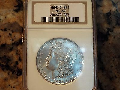 1882-O Morgan Silver Dollar, NGC MS-64!
